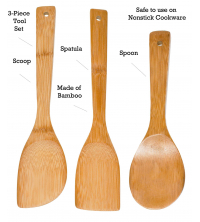 Bamboo kitchen set 3 pcs