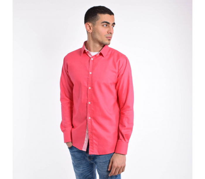 Rose Chemise Fushia Homme Casual CxtdBsrhQ