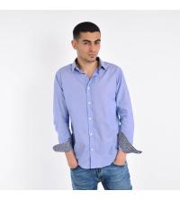 Chemise Homme Rayée Bleu et Blanc