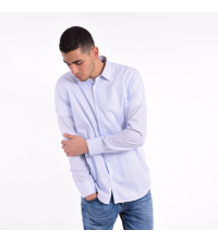 Chemise Homme rayée Bleu Ciel Blanc
