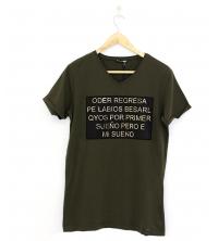 T-shirt pour homme vert militaire
