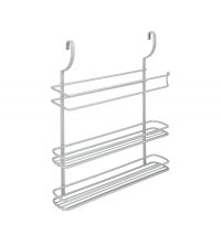 Etagère 3 niveaux : Deux étagères avec porte papier essuie-tout 35x8x38 cm - 35.07.18 - Gris - Garantie 5 ans