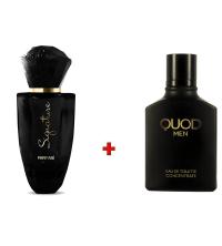 Lot Parfum Homme Quod Men - 100ml - Et Parfum Femme Signature - 50ml