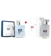 Lot Parfum Homme Fly - 80ml - Parfum Femme Fly Intense - 50ml