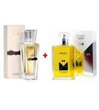 Lot Parfum Homme Mister - 100ml - Et Parfum Femme Luck - 30ml