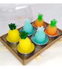 Pack 6 bougies - Ananas