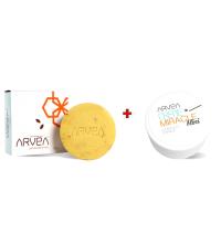 Lot Soin Bio corps et visage - Crème miracle mini et Savon au son de blé et miel - Peau normale