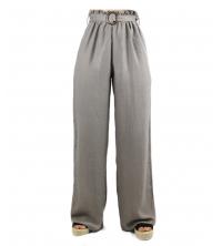 Pantalon large pour femme Taupe