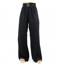 Pantalon large pour femme Noir