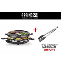 GRILL RACLETTE +Pince à barbecue inox