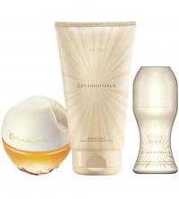 Lot Cadeau Femme - Parfum Incandessence 50ml - RollOn AntiTranspirant 50ml - Lait de Corps 150ml