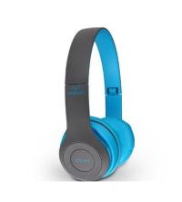 Casque P47 Bluetooth 4.1 - Portée: jusqu'à 10m - Autonomie jusqu'à 6 heures - Bleu