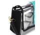 sac transparent avec pochette en cuir
