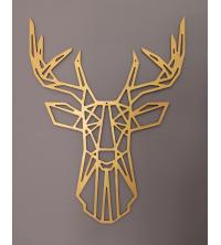 Tête de cerf - 65/50cm - Gold