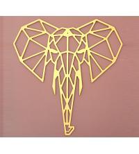 Tête d'éléphant - 65/61cm - Gold