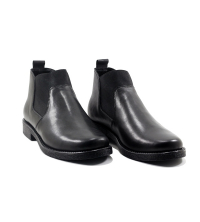 Boots - Slips-on - Stretsh Elastique - Cuir - Noir F19