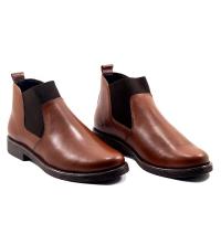 Boots LC 19 - Slips-on - Stretsh Elastique - Cuir - Marron