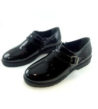 Bottine - Low boots - Cheville - Boucle - Verni - Noir