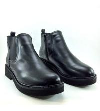 Boots - Plateforme - Croco - Matt - Noir