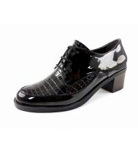 Chaussures - Derbies à Talons - Croco - Vernis - Noir