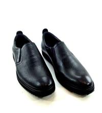 Chaussures - Cuir Perforé - Noir - Réf S400