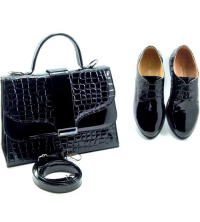 Icshoes+ Ensemble Sac à Main et Chaussures LC118