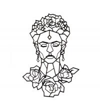 Frida - 96/65 cm - Noir