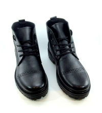 Icshoes+ Boots - Lacets - Cuir - Noir