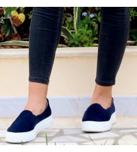 Mocassin LC 7004 Bleu - Pour Femme - Daim