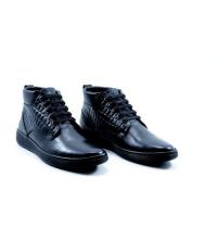 Icshoes+ Boots - Lacets - Cuir Matt - Croco Tanné - Noir Réf LC 385
