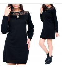 robe noir w dentelle chic pour femme