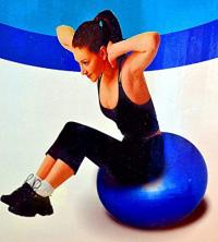 Gym Yoga Ball Health Balance Pilates Fitness Home Exercise Sport avec pompe à air et à gaz