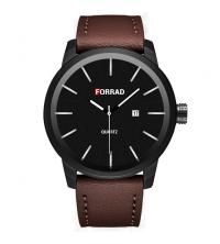FORRAD Montre Homme - Réf : C274-M - Marron et Noir - Garantie 1 An