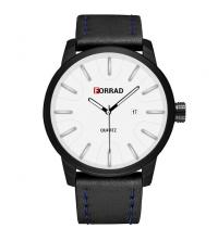 FORRAD Montre Homme - Réf : C274-N - noir et blanc- Garantie 1 An