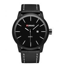 FORRAD Montre Homme - Réf : C274-N - Noire- Garantie 1 An