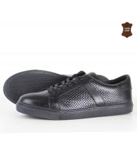Chaussure homme cuir effet torsadé Noir