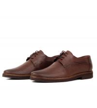 Chaussures orthopédiques en cuir marron