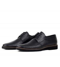 Chaussures orthopédiques en cuir Noir