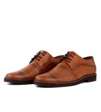 Chaussures orthopédiques en cuir Camel