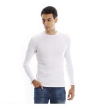 T-shirt manches longues ras du cou - Blanc