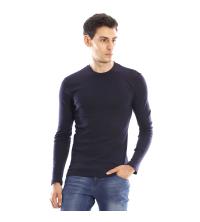 T-shirt manches longues ras du cou - Bleu marine