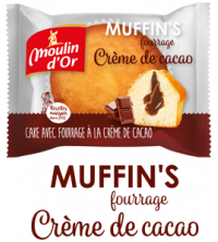 MUFFIN'S crème de cacao moulin d'Or