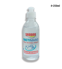 lot de 4 fioles GEL antibactérien 250 ml