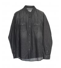 Chemise en jeans léger Noir pour homme