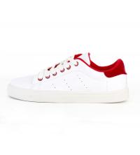 Basket femme blanc et rouge