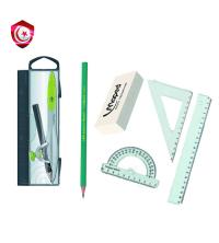 Pack - Compa Maped avec porte min , règle , équerres , demi arc et gomme