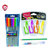 Pack – 8 stylos , crayon , correcteur , fleur-sen