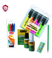 Pack – 4 stylos , gomme , crayon , correcteur et 4 marqueur fleure-sen