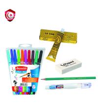 Pack – 10 stylos , gomme , crayon , correcteur , colla le coq
