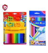 Pack - pâte à modeler , 12 stylos multicolore